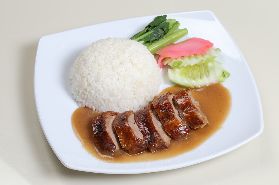 Roasted Duck with rice: 140 Baht